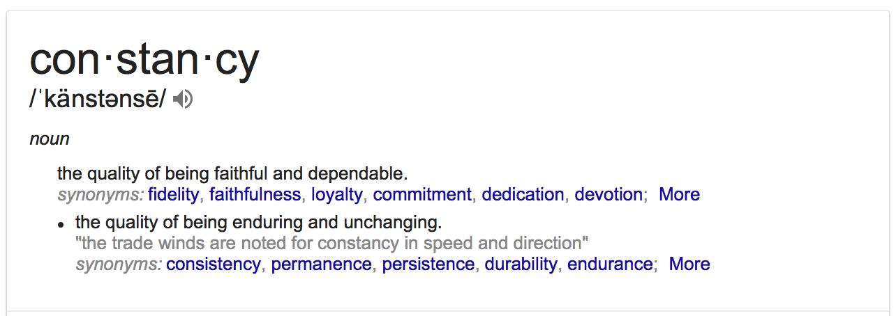 definition of constancy